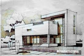 Modernist House architectural drawing ARCH studentcom