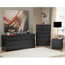 dresser and chest set. Contemporary Set Laguna Double Dresser 5Drawer Chest And Nightstand Set Black Woodgrain Throughout Dresser And Set E