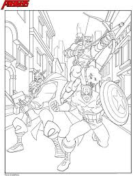 Small Picture Coloring Pages Avengers Syougitcom