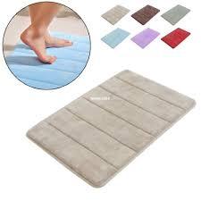 luxury c velvet memory foam non slip back rug soft bathroom carpet memory foam bath