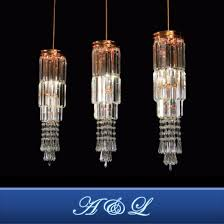 hotel decorative rose gold led crystal customized chandelier pendant lighting