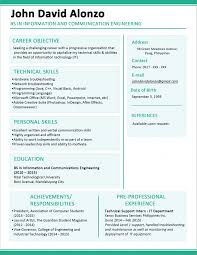 Template Sample Resume Format For Fresh Graduates One Page