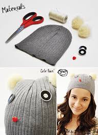 18 diy winter clothes and accessories embellish your knit winter hat