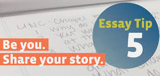 essay writing tip be you share your story unc essay writing tip 1 show don t tell