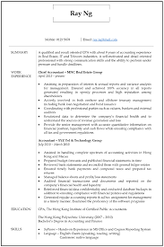 Example Of Accountant Resumes Resume Cv Sample For Accountant Jobsdb Hong Kong