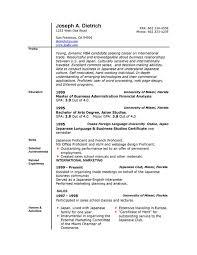 Simple Resume Template Word - All Best Cv Resume Ideas