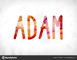 Adam Concept Painted Watercolor Word Art ⬇ Stock Photo, Image by ...