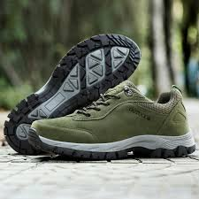 new men s hiking shoes suede leather sport shoes men trail outdoor walking boots climbing spring summer trekking green brown gray eur39 49