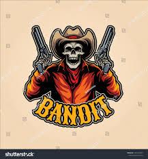 Bandit Logo Design Bandit Mascot Logo Design Vector Abstract Sports