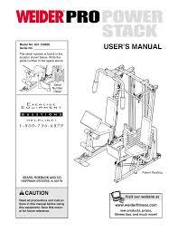 Weider 831 159830 Home Gym User Manual Manualzz Com