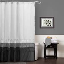 Lush Decor Lake Como Curtains Gray Shower Curtain