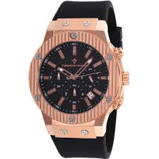 out cv8124 christian van sant monarchy rose gold black dial christian van sant monarchy rose gold black