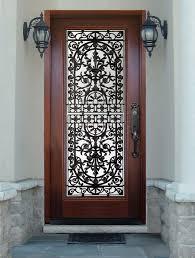 wood door with glass insert