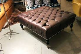 square faux leather coffee table ottoman decoration in round with storage