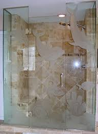 innovative frosted glass shower enclosure and etched glass shower doors in bonita springs fl