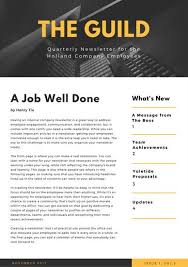 Employee Newsletter Yellow Building Photo Employee Newsletter Templates By Canva