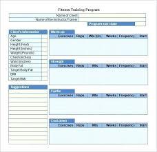 Training Template Word
