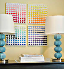11 this diy wall art idea was done with paint chips just by blending different on cheap wall art ideas diy with 34 amazing wall art ideas you can do yourself to bring a blank