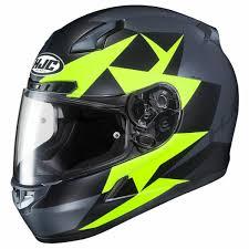 Hjc Cl 17 Ragua Mc3hsf Matt Grey Black Fluorescent Yellow Full Face Helmet
