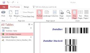 Gs1 Native Generator Access Microsoft Barcode Databar