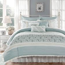 madison park vanessa blue 9 piece cotton percale duvet cover set