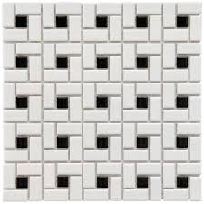 black and white tile pattern. Plain Pattern Merola Tile Spiral Black And White 1212 In X 12 On And Pattern T
