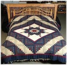 11 best Lone star quilts images on Pinterest | Lone star quilt ... & Log Cabin Lone Star Quilt Queen Adamdwight.com