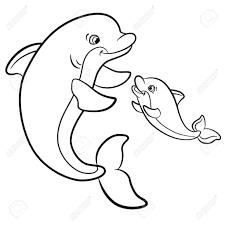 Kinderen Schattige Dolfijn Kleurplaten Kleurplaat Haai Schattige