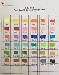 Faber Castell Classic Colour Chart Color Chart For Faber Castell Connector Pens The