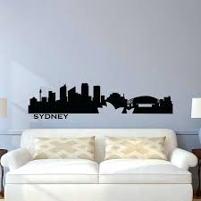 chicago skyline wall decals skyline wall decal city silhouette wall decals vinyl stickers living room office