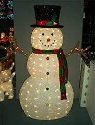 Amazon Com 5 Foot Pop Up Snowman Sculpture Outdoor Christmas Yard Decoration - apartmanidolores.com