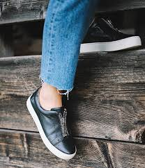 Frye Lena Front Zip Leather Sneakers