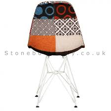 ghost chairs with seat cushions. charles ray eames style fabric dsr side chair white legs - patchwork ghost chairs with seat cushions
