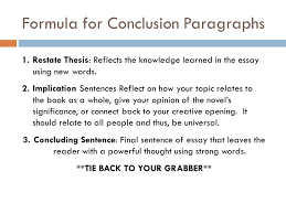 introductory conclusion paragraphs ppt  formula for conclusion paragraphs