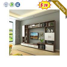 china wooden open shelves design living