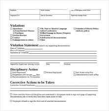 Sample Employee Write Up Form 7 Documents In Pdf
