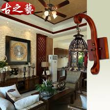 get quotations continental mediterranean retro wood wall sconce morocco archaized bar balcony aisle lights light fixtures cafe o2