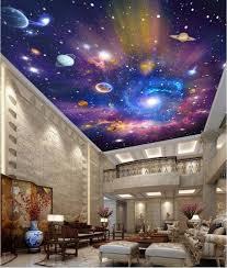 Custom 3d ceiling murals wallpaper home decor painting starry sky universe  galaxy 3d wall murals wallpaper