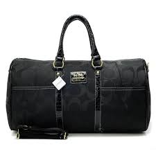 Coach Bleecker Monogram In Signature Large Black Luggage Bags AFN