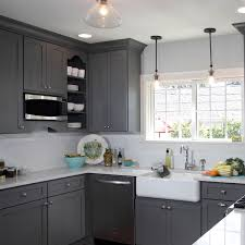 Light Gray Kitchen This Gorgeous Light French Gray Sw 0055 Kitchen Has Us Waving Our