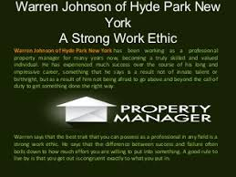 Work Ethic | LinkedIn Warren Johnson of Hyde Park New York - A Strong Work Ethic. warrenjohnsonhydeparknewyork