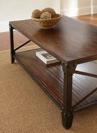 Superb Steve Silver Winston 4 Piece Coffee Table Set In Distressed Tobacco Idea