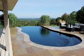 Negative edge pools Fibreglass Leisure Pools The Beauty Of Vanishing Edge Pools