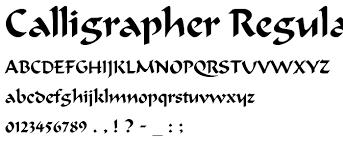 Fonts Calligrapher Rome Fontanacountryinn Com