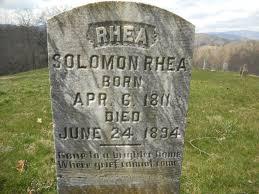 Salomon Rhea (1811 - 1894) - Genealogy