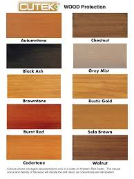 Colourtone Colour Chart Cutek Extreme Wood Stain Colors Cutek Oils For Wood Protection