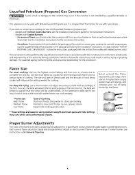 Liquefied Petroleum Propane Gas Conversion Flame Size