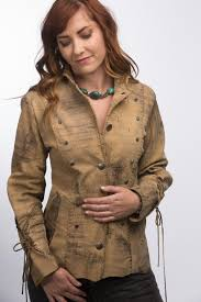 women s military leather jacket distressed brown