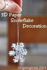 paper snowflakes 3d 3d paper snowflake