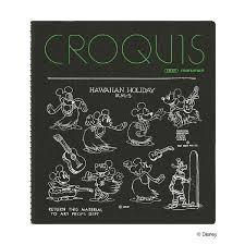 スケッチブック クロッキー帳 ディズニー ミッキーマウスe 90周年限定 スクエアサイズ Sqb D7 マルマン